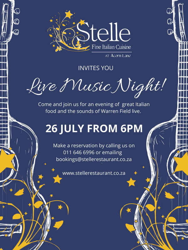 Live Music at Stelle Restaurant